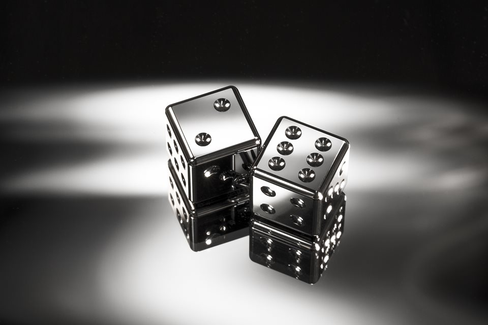 Dice in cemented carbide